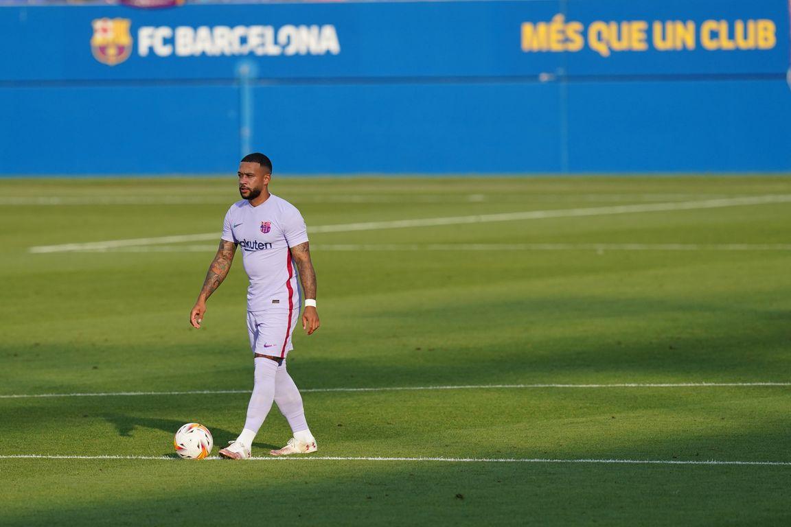 Memphis trefzeker tijdens eerste minuten in Barcelona-shirt