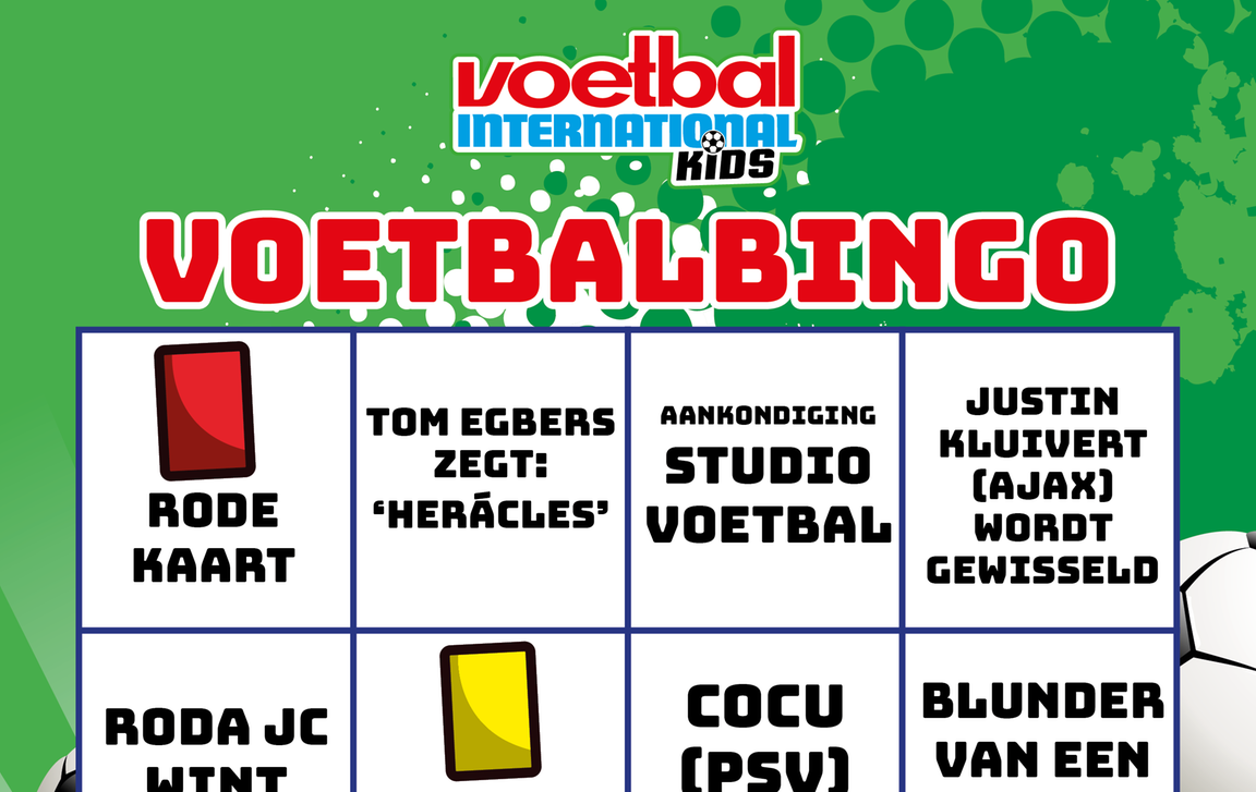 Geliefde VI Kids – Winter Vakantieboek Bingo - Voetbal International WI77