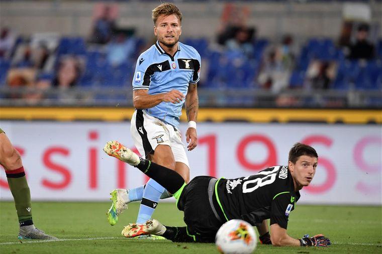 Immobile onttroont Ronaldo en schiet Lazio richting Champions ...
